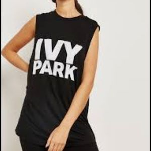 IVY PARK Tops - Ivy Park Black Muscle T-Shirt Tank Top Workout L